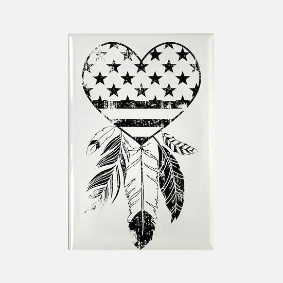 American Dreamcatcher Heart Rectangle Magnet