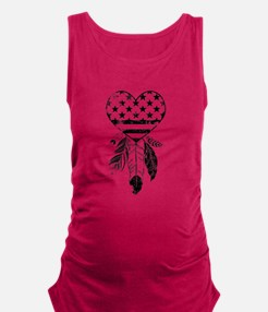 American Dreamcatcher Heart Maternity Tank Top