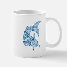 Koi Nishikigoi Carp Fish Diving Down Drawing Mugs