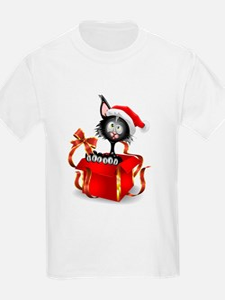 Christmas funny cats T-Shirt