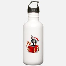 Christmas funny cats Water Bottle