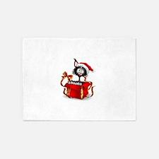 Christmas funny cats 5'x7'Area Rug