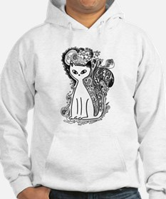 Funny floral pattern cats Hoodie
