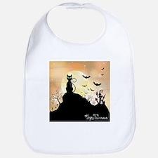 Silhouette halloween wallpaper Bib