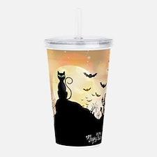 Silhouette halloween w Acrylic Double-wall Tumbler