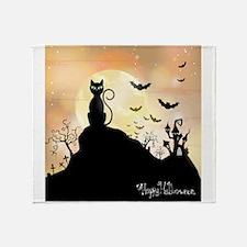 Silhouette halloween wallpaper Throw Blanket