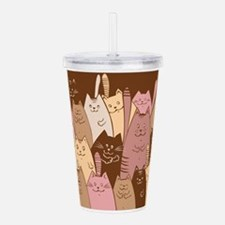 Different funny cat de Acrylic Double-wall Tumbler