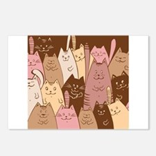 Different funny cat desig Postcards (Package of 8)