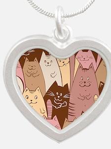 Different funny cat design Necklaces