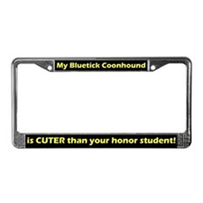 Honor Stdnt Bluetick Coonhound License Plate Frame