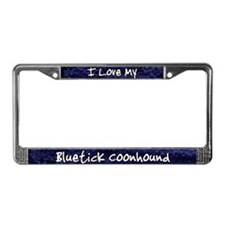 Funky Love Bluetick Coonhound License Plate Frame