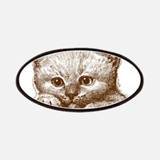 Hand drawn brown cat Patch