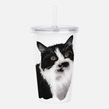 Cute black and white c Acrylic Double-wall Tumbler