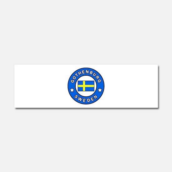 Gothenburg Sweden Car Magnet 10 x 3