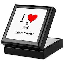 I Love My Real Estate Broker Keepsake Box