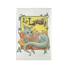 Dragon Reader Rectangle Magnet