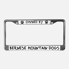 Owned by Bernese Mountain Dogs License Plate Frame