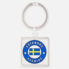 Cute Scandinavian Square Keychain
