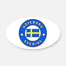 Unique Scandinavia Oval Car Magnet