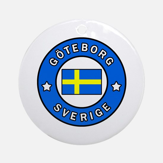 Unique Sverige Round Ornament