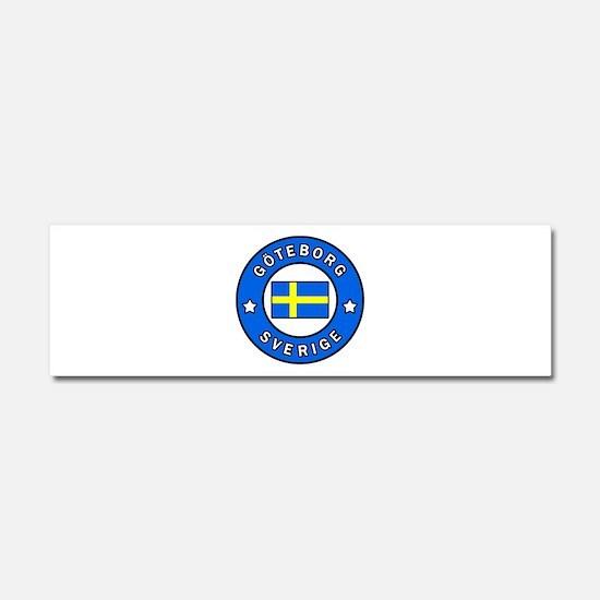 Goteborg Sverige Car Magnet 10 x 3