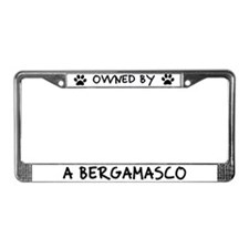 Owned by a Bergamasco License Plate Frame