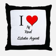 I Love My Real Estate Agent Throw Pillow