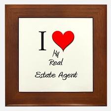 I Love My Real Estate Agent Framed Tile