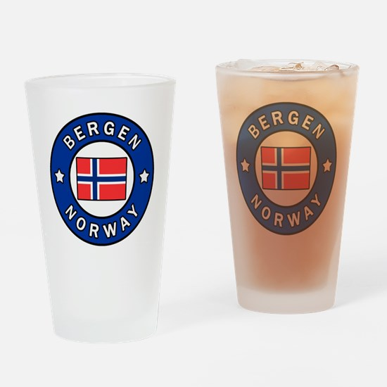 Cute Norge Drinking Glass