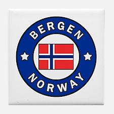 Cute Norway flag Tile Coaster