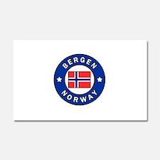 Bergen Norway Car Magnet 20 x 12