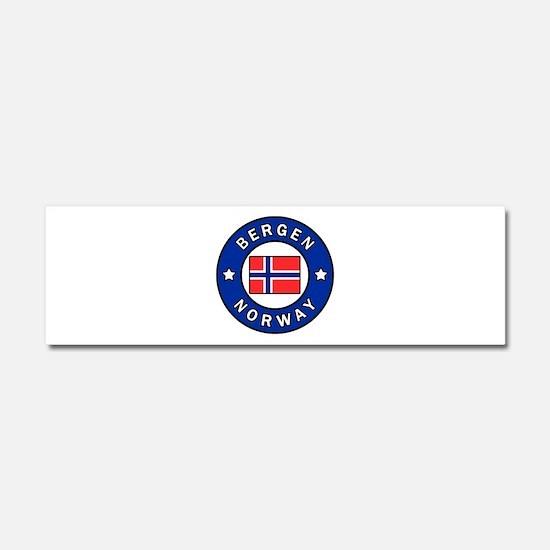 Bergen Norway Car Magnet 10 x 3