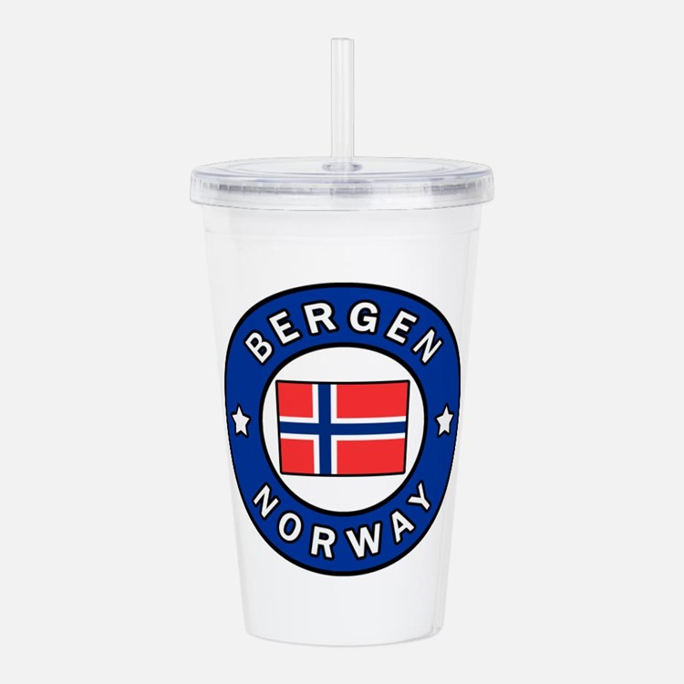 Bergen Norway Acrylic Double-wall Tumbler