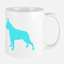 Boston Terrier Lt Blue 2 Mugs