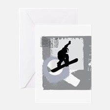 Snowboarder design Greeting Cards