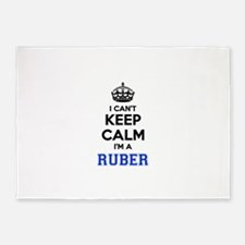 I can't keep calm Im RUBER 5'x7'Area Rug
