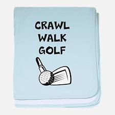 Crawl Walk Golf baby blanket