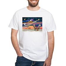 XmasStar/2 Red Huskies Shirt