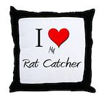 I Love My Rat Catcher Throw Pillow