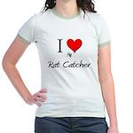 I Love My Rat Catcher Jr. Ringer T-Shirt