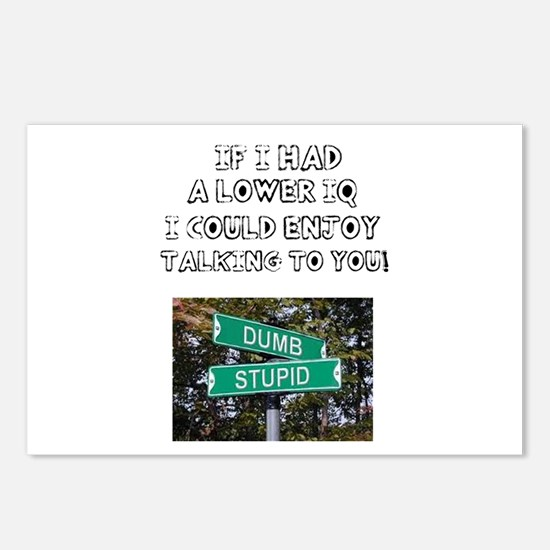IF I HAD A LOWER IQ - I C Postcards (Package of 8)