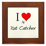 I Love My Rat Catcher Framed Tile