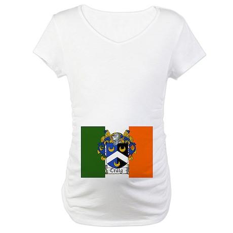 Craig Arms Irish Flag Maternity T-Shirt