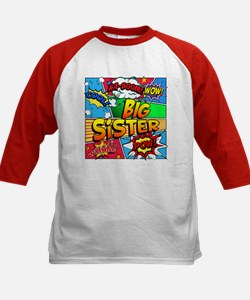 Big Sister Comic Book Kids Baseball Jersey