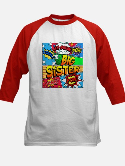 Big Sister Comic Book Kids Baseball Jersey