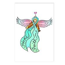 Teal Ribbon Angel Postcards (Package of 8)