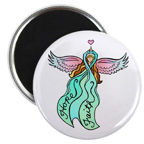 Teal Ribbon Angel Magnet