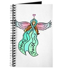 Teal Ribbon Angel Journal