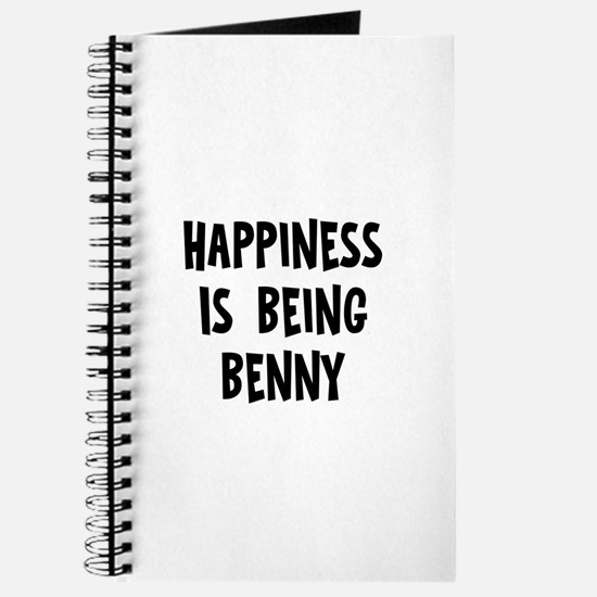 Happiness is being Benny Journal