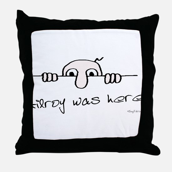 Kilroy Was Here Throw Pillow